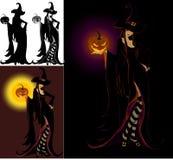 Signora Halloween - strega Fotografie Stock