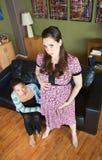 Signora incinta nel dolore Immagine Stock Libera da Diritti
