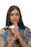 Signora indiana nell'ATT tradizionale fotografia stock libera da diritti