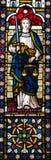 Signora Justice Stained Glass Window Fotografia Stock Libera da Diritti