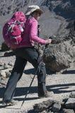 Signora in Kilimanjaro rosa Fotografia Stock Libera da Diritti
