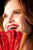 Signora Laughing Fotografia Stock