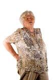 Signora maggiore con dolore alla schiena Immagini Stock Libere da Diritti