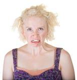 Signora Making un fronte Fotografia Stock Libera da Diritti
