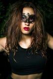 Signora mascherata. Bello modello adolescente  Immagini Stock Libere da Diritti