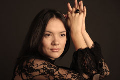 Signora in merletto Fotografia Stock Libera da Diritti