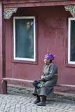 Signora mongola anziana Fotografia Stock Libera da Diritti