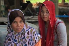 Signora musulmana della Cambogia Fotografia Stock Libera da Diritti