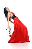 Signora nel colore rosso immagine stock libera da diritti