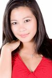 Signora nel colore rosso Fotografie Stock