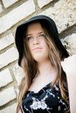 Signora nel nero Fotografia Stock