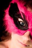 Signora nella mascherina Fotografie Stock