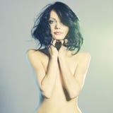 Signora nuda elegante Fotografia Stock
