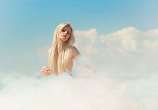 Signora nuvolosa Fotografie Stock