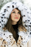 Signora in pelliccia Immagine Stock Libera da Diritti