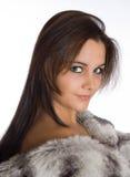 Signora in pelliccia fotografia stock libera da diritti