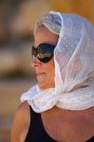 Signora più anziana sorridente Immagine Stock