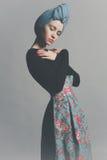 Signora raffinata alla moda Fotografie Stock Libere da Diritti