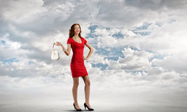 Signora In Red Fotografie Stock Libere da Diritti
