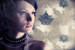Signora romantica Fotografia Stock