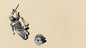 Signora rotta della rappresentazione della giustizia 3d Immagini Stock Libere da Diritti
