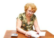 Signora senior Fotografia Stock Libera da Diritti