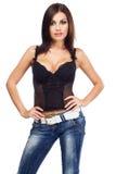 Signora sexy in un corsetto Immagini Stock