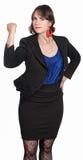 Signora Shakes Her Fist immagini stock libere da diritti