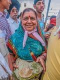 Signora sikh in tempio dorato Fotografia Stock Libera da Diritti