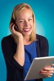 Signora Smiling di servizio di assistenza al cliente Fotografia Stock Libera da Diritti