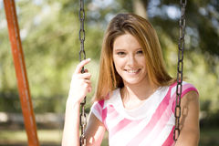 Signora sorridente Fotografia Stock