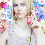 Signora Spring Immagine Stock