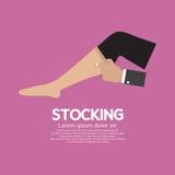 Signora Stocking Clothes Accessories Fotografia Stock Libera da Diritti