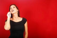 Signora sul telefono immagini stock libere da diritti