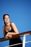 Signora sulla nave da crociera Immagini Stock Libere da Diritti
