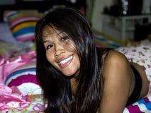 Signora tailandese felice Immagini Stock