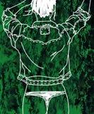 Signora verde dei jeans illustrazione vettoriale