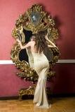 Signora in vestito Fotografia Stock Libera da Diritti