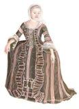 Signora in vestito antico 01 Immagini Stock Libere da Diritti