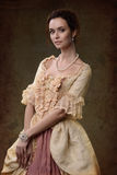 Signora in vestito medioevale Fotografia Stock