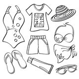 Signore abbigliamento ed accessori royalty illustrazione gratis