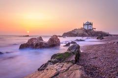 Signore della chiesa della pietra a Oporto, Portogallo Immagini Stock Libere da Diritti