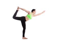 Signore della posa di yoga di ballo Immagine Stock Libera da Diritti