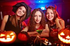 Signore di Halloween Fotografia Stock