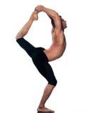 Signore di natarajasana di yoga dell'uomo della posa del danzatore Immagini Stock