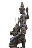 Signore di Vishnu della guida indù il suo garuda Fotografia Stock