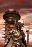 Signore diabolico di caos del cavaliere di fantasia illustrazione di stock