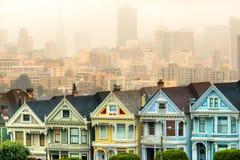 Signore dipinte di San Francisco, California, U.S.A. Fotografia Stock Libera da Diritti