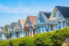 Signore dipinte, le signore anziane più famose di San Francisco fotografia stock
