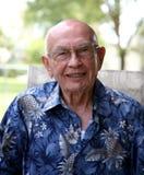 Signore più anziano Balding Immagini Stock Libere da Diritti